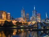 The Yarra River and Melbourne Skyline Photographic Print
