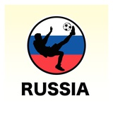 Russia Soccer Giclee Print
