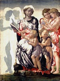 The Madonna and Child with Saint John and Angels Photographic Print by Michelangelo Buonarroti