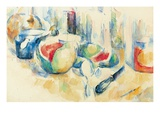 Still Life with Sliced Open Watermelon Giclee Print by Paul Cezanne
