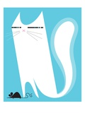 Cat catching mouse Giclee Print by Kirsten Ulve