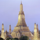 Wat Arun Buddhist temple Photographic Print by Martin Puddy