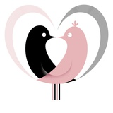Love birds Giclee Print by Kirsten Ulve