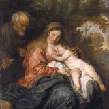 Rest on the Flight into Egypt by Anthony van Dyck Fotografisk tryk