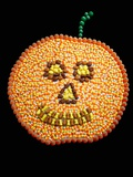 A Jack o'Lantern Made From Candy Photographic Print by William Brady