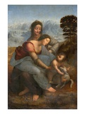 Virgin and Child with St. Anne by Leonardo da Vinci Reproduction procédé giclée
