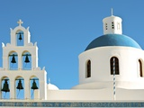 Church of Panagia of Platsani, Oia Caldera Square, Greece Photographic Print by Ted Horowitz