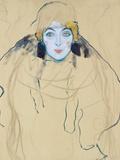 Head of a Woman by Gustav Klimt Photographic Print