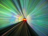 Bund Sightseeing Tunnel lights Photographic Print by Paul Souders