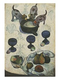 Still Life with Three Puppies Stampa giclée di Paul Gauguin