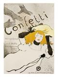 Confetti Premium Giclee Print by Henri de Toulouse-Lautrec