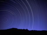 Star Trails Over Mountain Range in Utah Photographic Print by Chris Cheadle