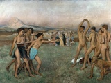 Young Spartans Photographic Print by Edgar Degas