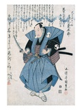 The Actor Onoe Kikugoro III in the Role of Oboshi Yuranosuke Reproduction procédé giclée par Utagawa Toyokuni