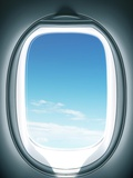 Close-up of airplane window Photographic Print by Sung-Il Kim