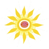 Smiling sun Giclee Print by Kirsten Ulve