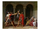 Oath of the Horatii Gicleetryck av Jacques-Louis David
