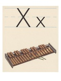 X is for xylophone Giclee Print