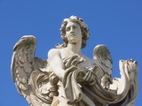Angel statue on Sant'Angelo Bridge Photographic Print by Jean-pierre Lescourret