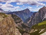 Sexten Dolomites and north side of Tre Cime di Lavaredo Photographic Print by Frank Krahmer