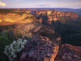 Sandstone Cliffs at Sunset Photographic Print by Theo Allofs