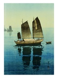 Forenoon, from a Set of Six Prints of Sailing Boats Giclee Print by Yoshida Hiroshi