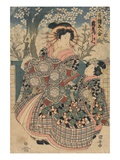 The Courtesan Kashiku Giclee Print by Utagawa Kuniyasu