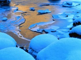 Ice and Snow on a Beach Photographic Print by Dean Uhlinger