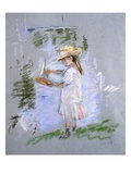 Julie in Pink at the Edge of the Lake Giclee Print by Berthe Morisot