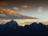 Sunset over Teton Range Fotografie-Druck von Jeff Vanuga