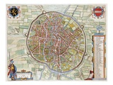Lovanium, Map of Louvain Premium Giclee Print by Jan Blaeu