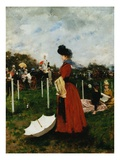 At the Races (Parasol) Giclee Print by Francisco Miralles