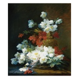 Still-Life of Christmas Roses Giclee Print by Charles Etienne Guerin