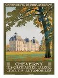 Cheverny les Chateaux de la Loire Giclee Print by Constant Duval