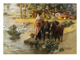 The Oasis Giclee Print by Frederik Arthur Bridgman