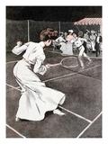 Tennis Match Giclee Print by Ferdinand Von Reznicek