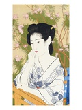 A Bust Portrait of a Young Woman Leaning on a Balcony Giclee Print by Goyo