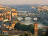 Florence and the Arno River Photographic Print by William Manning