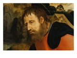 Detail of Joseph from The Rest on the Flight into Egypt Giclee Print by Quentin Massys