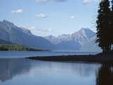Morning View/Lake Mcdonald, Glacier National Park, Montana Photographic Print by Gary Faye