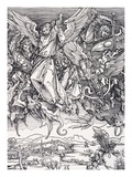 St. Michael Slaying the Dragon Giclee Print by Albrecht Dürer
