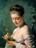 Girl with a Nest Photographic Print by Charles Joshua Chaplin