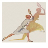 Woman tennis player Giclee Print