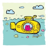 Yellow submarine Giclee Print by Sabet Brands