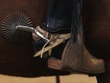 Chilean Cowboy with Elaborate Spurs Photographic Print by Paul Souders