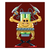 Monster with ray gun Giclee Print by Matthew Laznicka