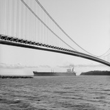 Bridge and Ship Photographic Print by Chip Forelli