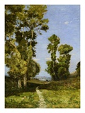 The Way Leading to the Lake Giclee Print by Henri Joseph Harpignies