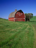Big Red Barn Photographic Print by Darrell Gulin