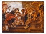 Abraham and Melchizedek Lámina giclée por Peter Paul Rubens